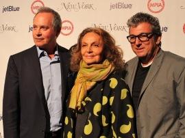 Paul E. Pariser, Diane von Furstenberg and Andrew Rosen