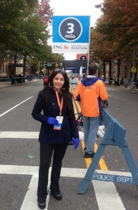 Miki at NYC Marathon 2013