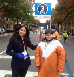 Miki with Volunteer-NYC Marathon 2013