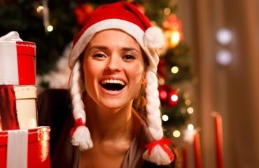 Christmas Woman Laughing