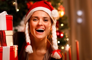 Christmas Woman Laughing