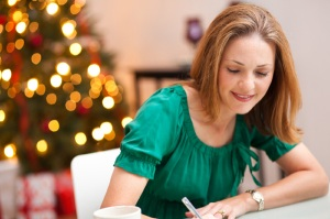 Christmas-Woman Writing