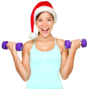 Fitness christmas woman training