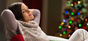 Woman Relaxing Christmas